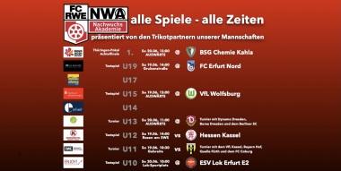 Welche Rot-Weiß-Mannschaft ist am 19./20.6. wo im Einsatz?