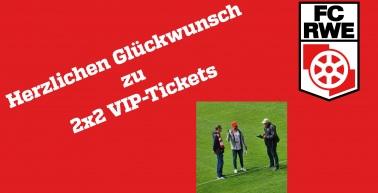 Zwei Mitglieder gewinnen VIP-Karten für das nächste Heimspiel gegen Martinroda