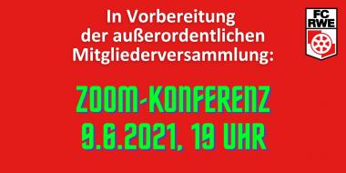 Zoom-Konferenz in Vorbereitung der AOMV